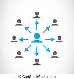 rede, pessoas negócio