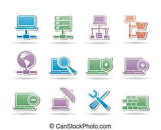 rede, servidor, e, hosting, objetos