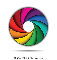 redemoinho, arco íris, coloridos