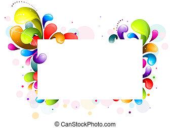 redemoinho, arco íris, quadro