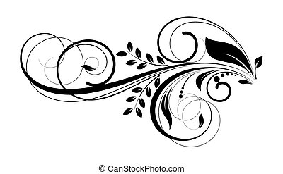 redemoinho, floral, desenho decorativo