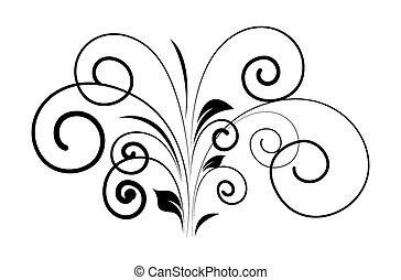 redemoinho, floral, forma