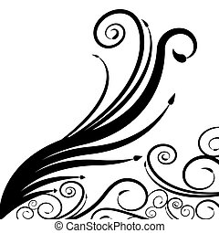 redemoinho, seta, espiral, fundo