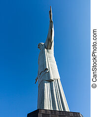 redentor, cristo, estatua, río