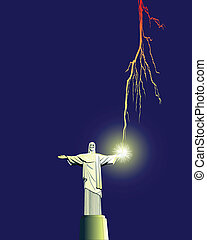 redentor, estatua, en, brasil