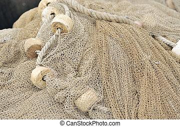 redes, closeup, pesca