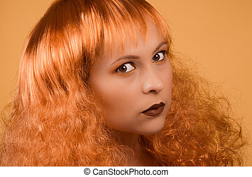 redhead beauty portrait