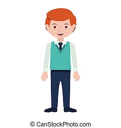 redhead man with formal suit and tie