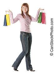 Redhead shopper