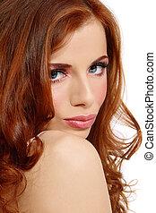 redhead, skönhet