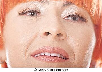 Redhead woman face