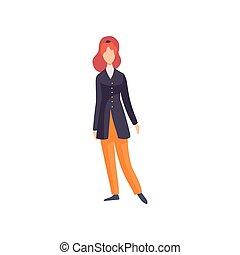 Redhead woman wearing vintage clothing, retro fashion people...