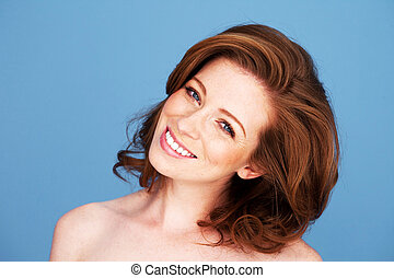 Redhead Woman With Beautiful Smile