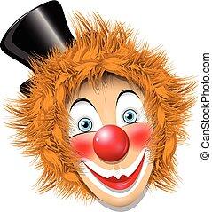 redheaded, pagliaccio