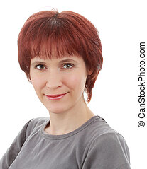 redheaded, vrouw
