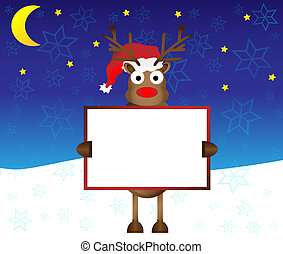 happy red nose Reindeer deer