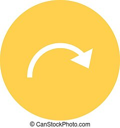 Reset, restart, redo icon vector image. Can also be used for text editing. Suitable for mobile apps, web apps and print media.
