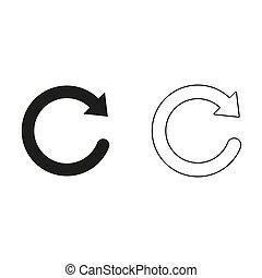 redo symbol - green vector icon