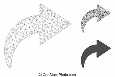 Redo Vector Mesh Carcass Model and Triangle Mosaic Icon