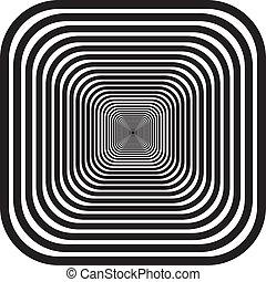 redondeado, esquinas, túnel, perspectibe, plano de fondo