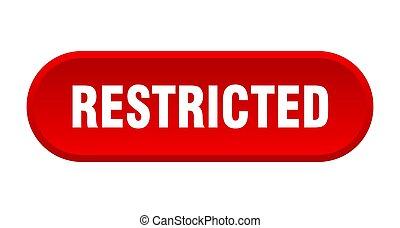 redondeado, restringido, fondo blanco, button., señal