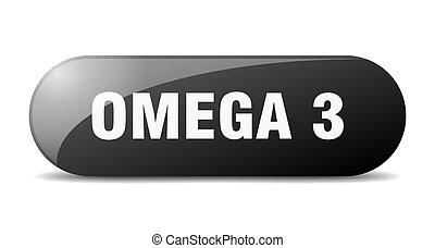 redondeado, sticker., vidrio, 3, button., omega, señal, ...