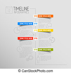 redondeado, timeline, etiquetas, infographic, plantilla, ...