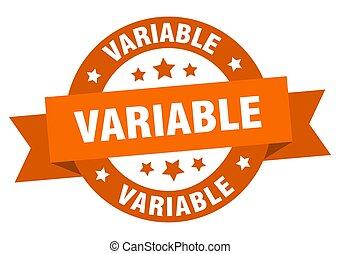 redondo, aislado, cinta, señal, label., variable