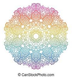 redondo, arco irirs, fondo., mandala