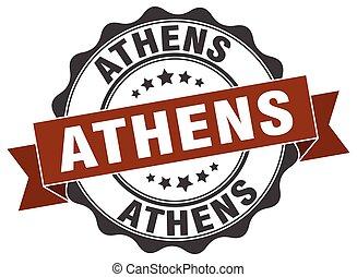 redondo, Atenas, Fita, selo