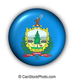 redondo, botão, eua, bandeira estatal, de, vermont