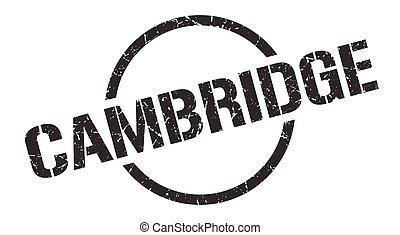 redondo, cambridge, grunge, isolado, sinal, stamp.