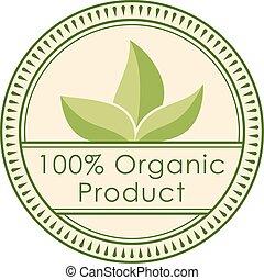 redondo, eco, emblema, verde, selo, etiqueta, de, saudável,...