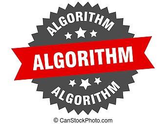 redondo, label., circular, banda, pegatina, algorithm,...