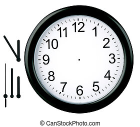 redondo, relógio, isolado