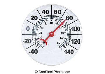redondo, termómetro
