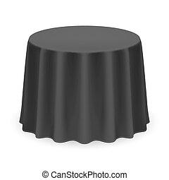 redondo, toalha de mesa