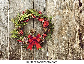 redpoll, común, wreath., maquillar