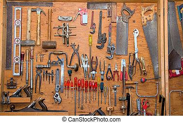 redskaberne, på, muren