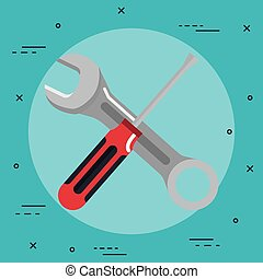 redskaberne, reparer, understøttelse, konstruktion, renovation, iconerne