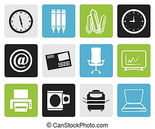 redskapen, affärskontor, ikonen