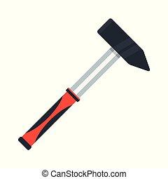 redskapen, för, reparera, hammare