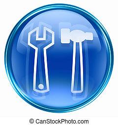 redskapen, ikon, blå