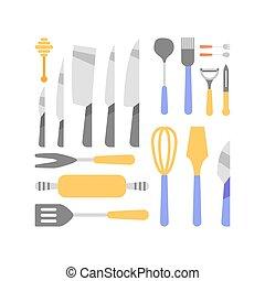 redskapen, kollektion, kök