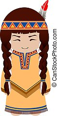 redskin., girl., indiano