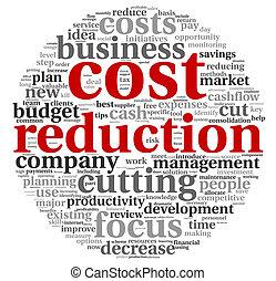 reducción, concepto, costes