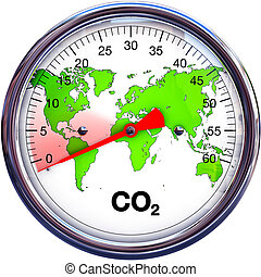 reduce CO2 - 3D illustration of reducing CO2