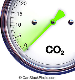 reduce CO2 - illustration of CO2 reducing