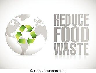 reduce food waste illustration design