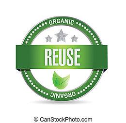 reduce organic seal illustration design